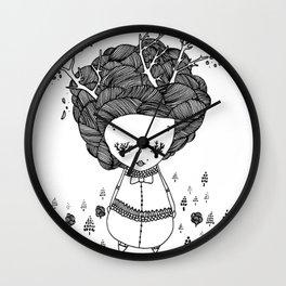 treegirl Wall Clock