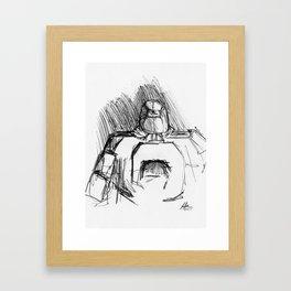 Warbot Sketch #045 Framed Art Print