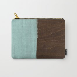 Seafoam Blue Paint on Wood Carry-All Pouch