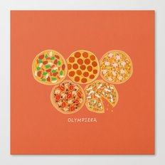 Olympizza Canvas Print