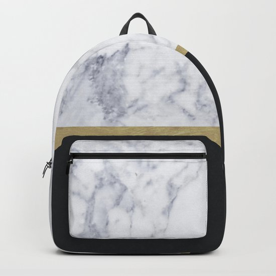 MARBLE GOLD BLACK Backpack