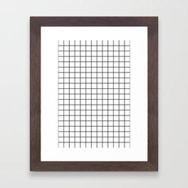 Geometric Black and White Grid Print Framed Art Print