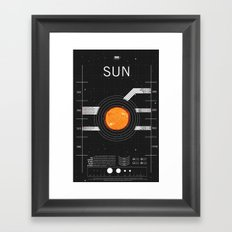 OMG SPACE: Sun 1960 - 2010 Framed Art Print