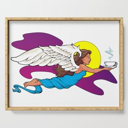 Coffee Angel Serving Tray