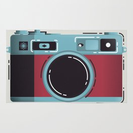 Little Yashica Camera Rug