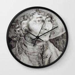 Albrecht Durer - Portrait Of An Unknown Man Wall Clock