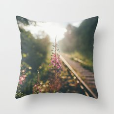 After the rain comes the sun. Throw Pillow