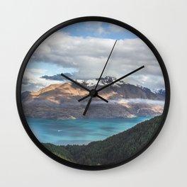 The island cloud ocean Wall Clock