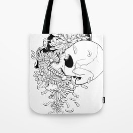 Skull (Pushing Up Daisies) Tote Bag