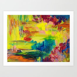 GOING THROUGH THE MOTIONS -  Stunning Saturated Bold Colors Modern Nature Abstract Art Print