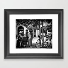 Time to Chat Framed Art Print
