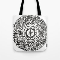 calendar Tote Bags featuring Aztec Calendar by Jack Soler