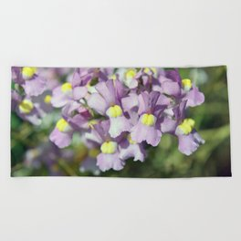 Pretty Petite Purple Blooms Beach Towel