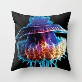 Cauliflower Jellyfish Fractal Throw Pillow