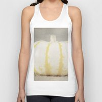 striped Tank Tops featuring Striped  Pumpkin by Pure Nature Photos