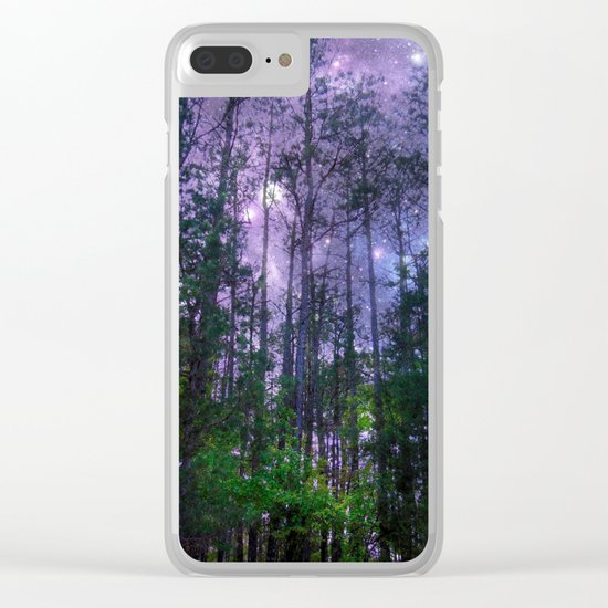 Mystic Forest : Purple Space Clear iPhone Case