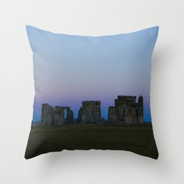 Stonehenge In Pink Throw Pillow