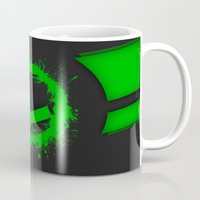 luigi Mugs featuring Luigi Splat by Donkey Inferno