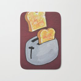You're Toast #199 by Mike Kraus - art food breakfast kitchen toaster fun appliance cooking bake chef Bath Mat