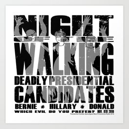 The Walking Presidential Candidates (all over) by Jeronimo Rubio 2016 Art Print