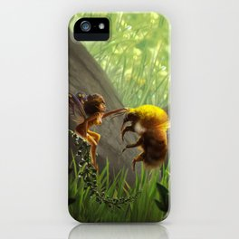 Faerie and Bee iPhone Case