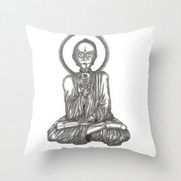 C3-Buddh-0 Throw Pillow