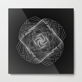 Twisted Geometry Metal Print