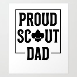 Scout Dad Art Print