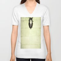 antler V-neck T-shirts featuring Antler by Jerica