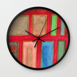 Some Chosen Rectangles ordered on Red Wall Clock
