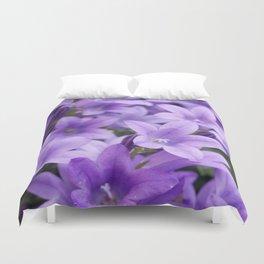 DREAMY - Purple flowers - Bellflower in the sun #1 Duvet Cover