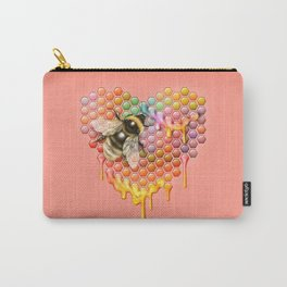 valentines heart, bumblebee, beehive Carry-All Pouch