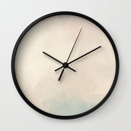 Simple Cream Colored Abstract Polygons Wall Clock
