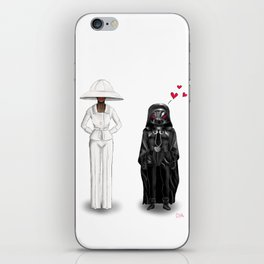 In Love With Lady Light Hat iPhone Skin