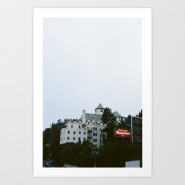 Looming Chateau Marmont Art Print