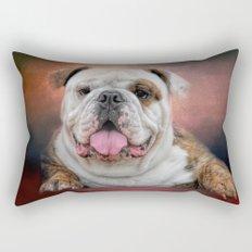 Hanging Out - Bulldog Rectangular Pillow