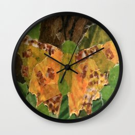 Golden Butterfly Wall Clock