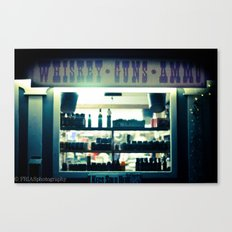 whiskey and ammo Canvas Print