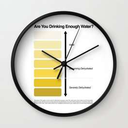 Pee Color Chart / Urine Color Chart Wall Clock