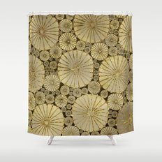 Abstract Floral Circles 6 Shower Curtain