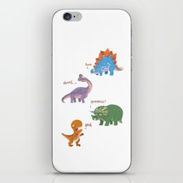 Potty Mouth Dinos Group iPhone Skin
