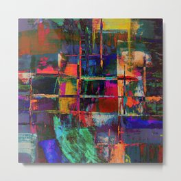 Canvas Abstract Deux Metal Print