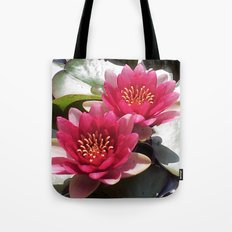 Pink Water Lily Duo Tote Bag