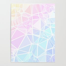 Pastel Triangles 1 Poster