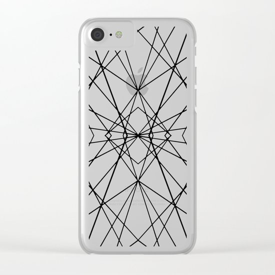 Snow Flake Clear iPhone Case