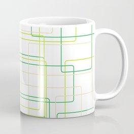 Green Line Pattern Coffee Mug