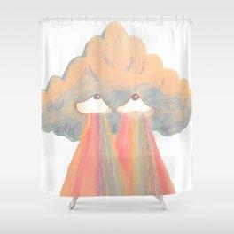 Cloud pink Shower Curtain