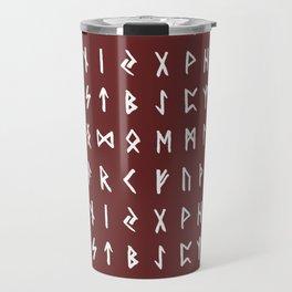 Nordic Runes // Monarch Red Travel Mug