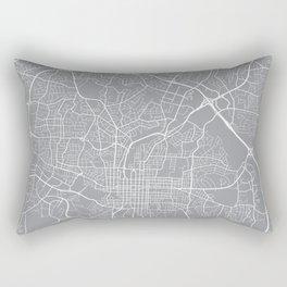 Raleigh Map, North Carolina USA - Pewter Rectangular Pillow