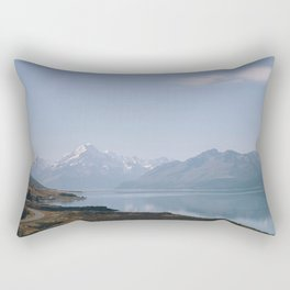 alpine lake Rectangular Pillow